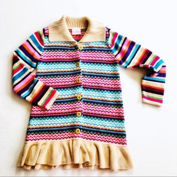 Hanna Andersson Other - Hanna Anderson Multi Color Ruffle Girls Cardigan